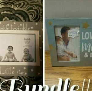 "(2) New ""Baby"" Picture Frames 5×7"